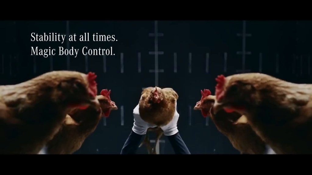 Mercedes Benz MAGIC BODY CONTROL TVCommercial Chicken